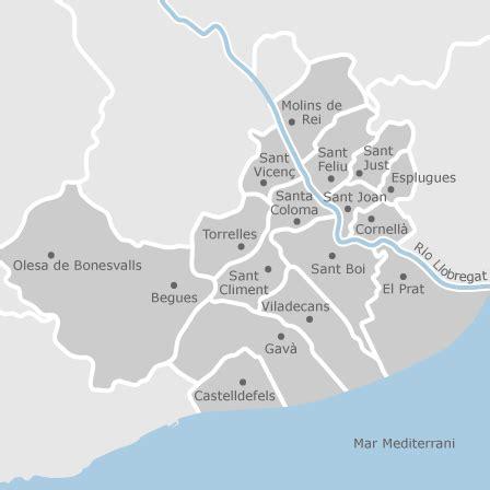 mapa de baix llobregat sud barcelona idealista