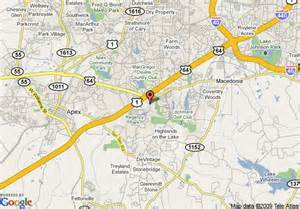 map of residence inn by marriott raleigh cary cary