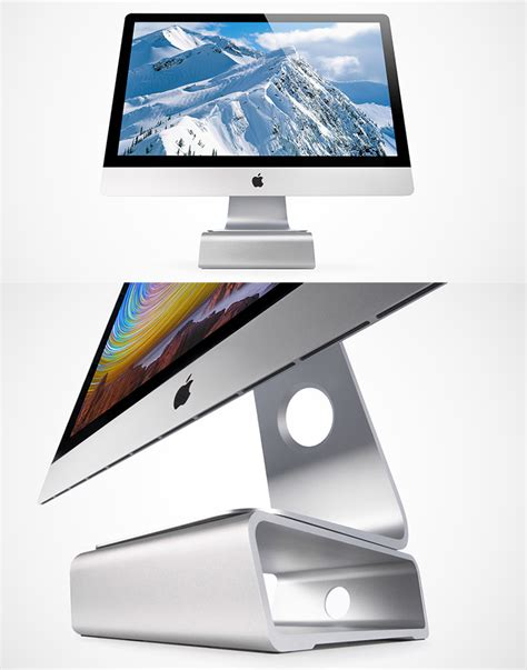 imac desk stand elevation stand a stunning space saving desk stand for