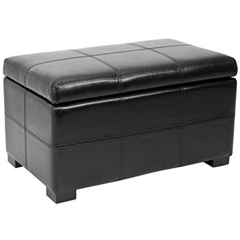 black patio storage bench safavieh hudson collection williamsburg black leather