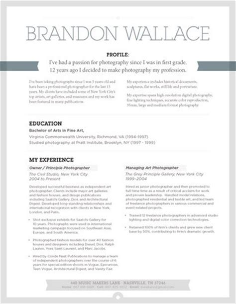 resume ideas cv template resume exles