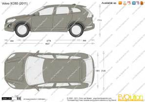 Volvo Xc60 Measurements The Blueprints Vector Drawing Volvo Xc60
