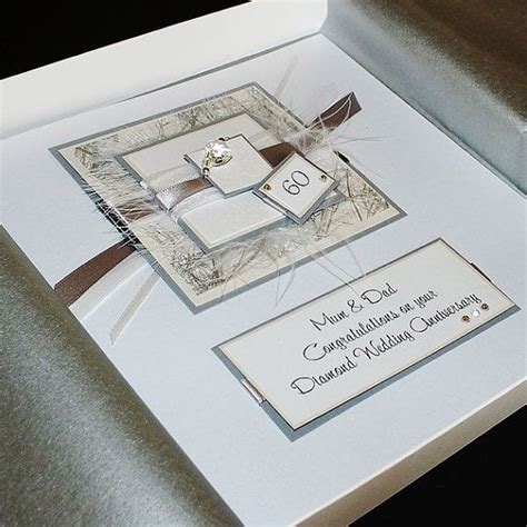 personalised boxed 60th wedding anniversary card for grandparents or