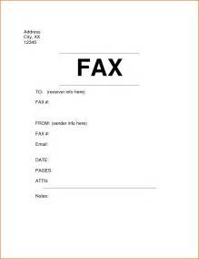Sle Fax Cover Letter by 6 Fax Cover Sheet Format Authorizationletters Org