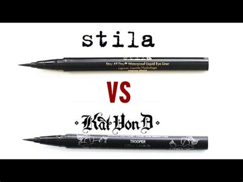 kat von d tattoo liner vs kat von d vs stila liquid eyeliner review youtube