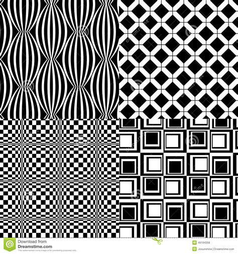 20973 Bold Retro Pattern S M L black white patterns retro vector 4 stock vector image