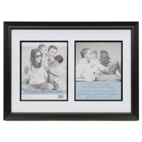 14x20 Frame With Mat by Black Cherished Memories Mat Picture Photo Frame