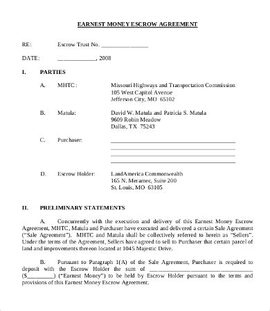 Money Agreement Template by Money Agreement Template 8 Free Pdf Documents