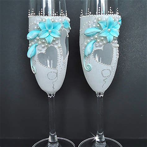 Shop Blue Champagne Glasses on Wanelo