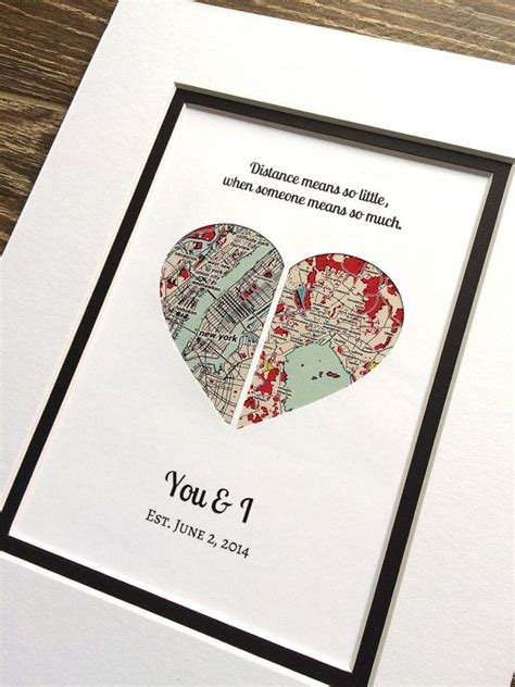 distance valentines day valentines day gift for distance v day gift by