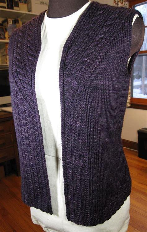 knitting pattern womens vest stonybrooke vest knitting pattern by valerie hobbs