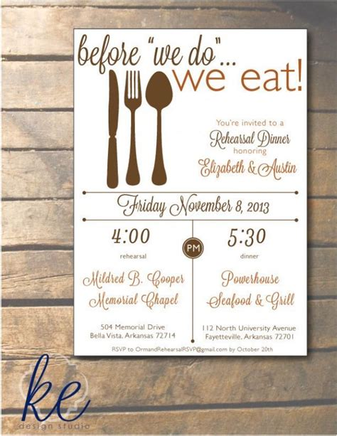 dinner invitation ideas before we do we eat rehearsal dinner invitation 5x7 24
