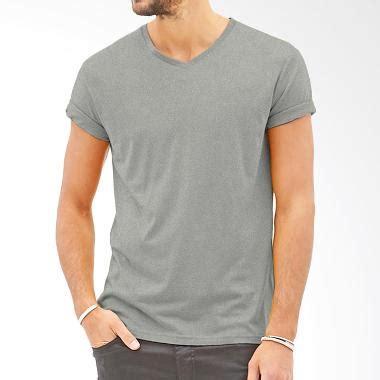 Kaos T Shirt Cotton Combad Pria Abu Everflow Gg 5 jual kaosyes polos v neck kaos pria abu harga kualitas terjamin blibli