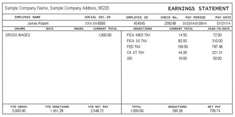 blank pay stub template word template design