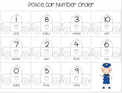 printable ordering numbers game 155 best images about community helpers on pinterest