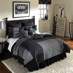 home decorating co black and silver bedding black and silver comforters