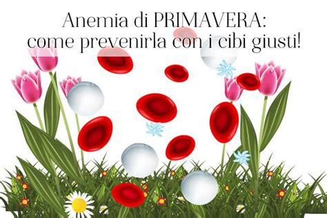 alimentazione anemia anemia di primavera come prevenirla con i cibi giusti