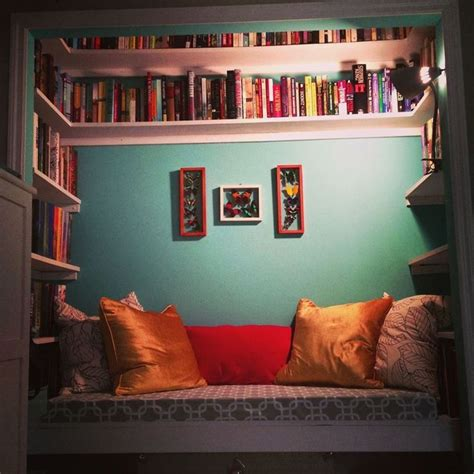 Closet Book Nook by Reading Nook Home Ideas