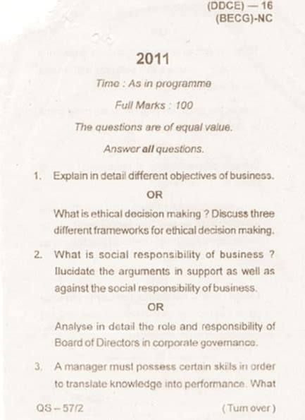 Mba Corporate Governance Questions And Answers by Utkal Mba Business Ethics And Corporate
