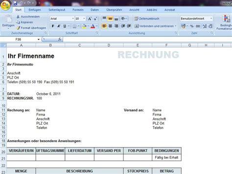 Rechnung Privatperson An Firma Vorlage Rechnungen Excelvorlage De
