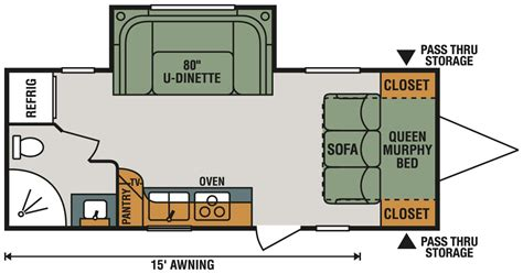 rv floor plans connect lite c201rb ultra lightweight travel trailer k z rv