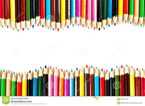 Color Palette Wooden Crayon Pencils At White Background