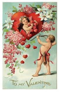 valentines vintage vintage clip with cherubs and hearts the