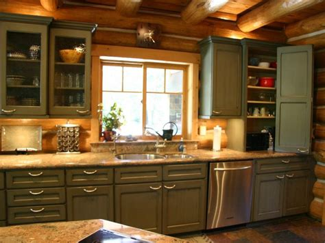Log Cabin Kitchen Cabinets by Best 25 Log Home Kitchens Ideas On Log Home