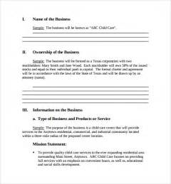 free buisness plan template small business plan template 9 free documents