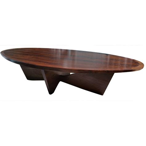 Oval Coffee Tables George Nakashima Oval Coffee Table Bow Tie Base Widdicomb 1958 At 1stdibs