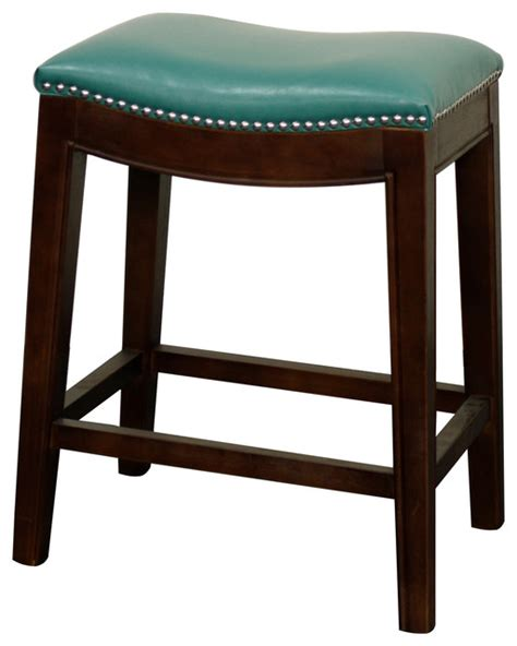 elmo bonded leather counter stool turquoise