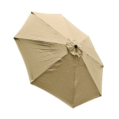 9 Ft 8 Ribs Replacement Umbrella Cover Canopy Tan Top Patio Umbrella Canopy