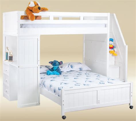 Awesome White Loft Bed With Desk And Stairs For Daughter White Loft Bed With Desk And Stairs