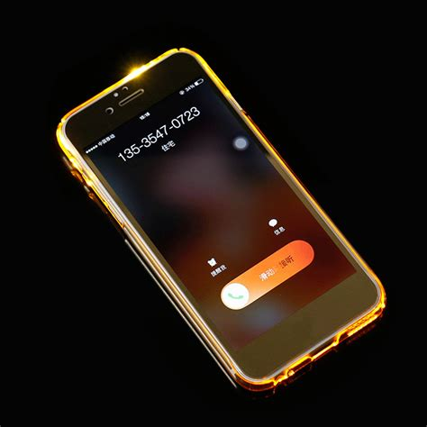 flashing light for incoming calls on iphone incoming call led flashing light up case cover skin for