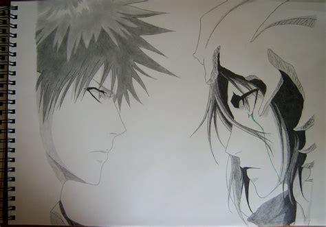 V Anime Drawing by Ichigo Vs Ulquiorra Wallpaper Wallpapersafari