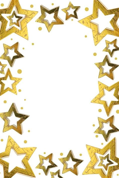 printable star frames star borders clipart best