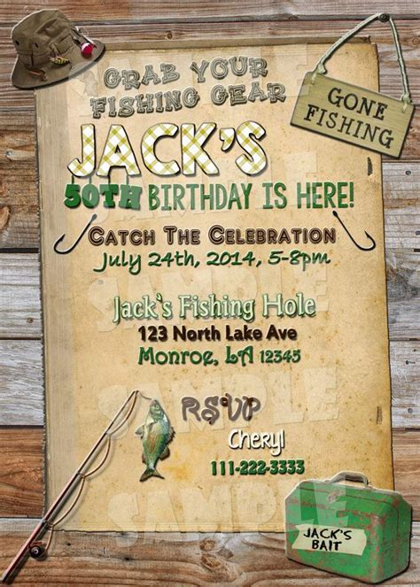 backyard birthday party invitations printable fishing birthday invitation fishing themed