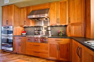 frameless kitchen cabinetry in cherry rustic kitchen