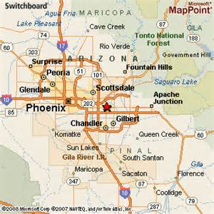 Map Of Mesa Arizona by Mesa Arizona