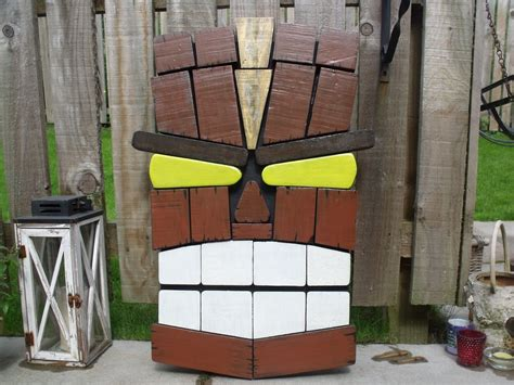 Unique Tiki Pallet Wall Art From Remnants ? 1001 Pallets