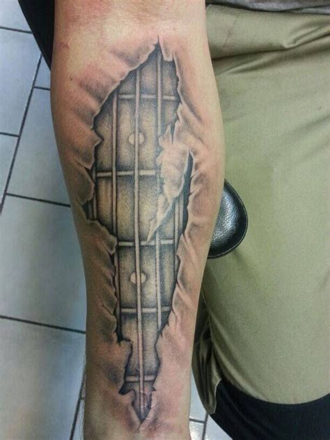 tattoo guitar neck bass guitar tattoo http www guitarandmusicinstitute com