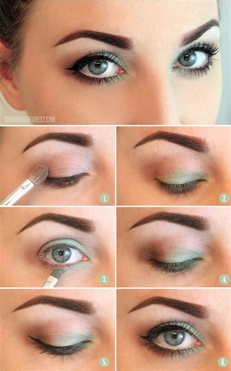 tutorial eyeliner simple 12 easy summer eye make up tutorials for beginners