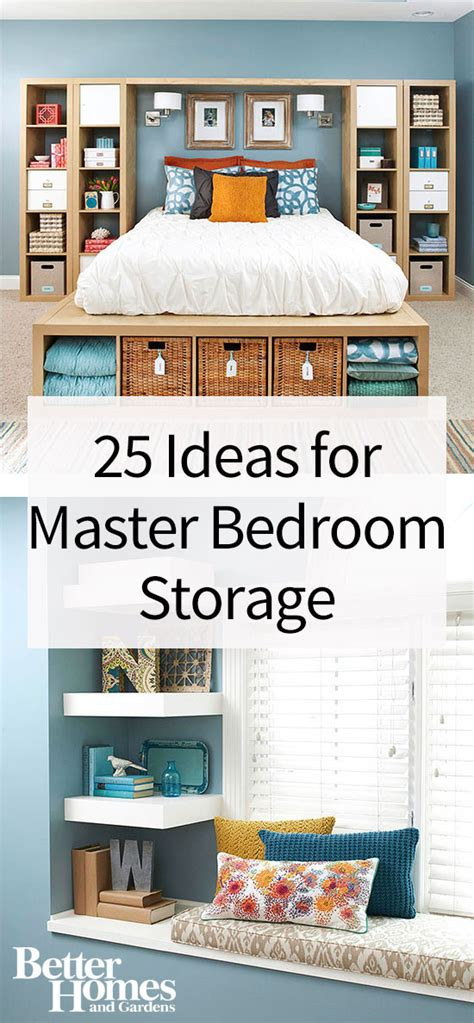 Clothes Storage Systems In Bedrooms Copy This Bedroom S 25 Creative Storage Ideas Wall Shelving Bed Storage And Master Bedroom