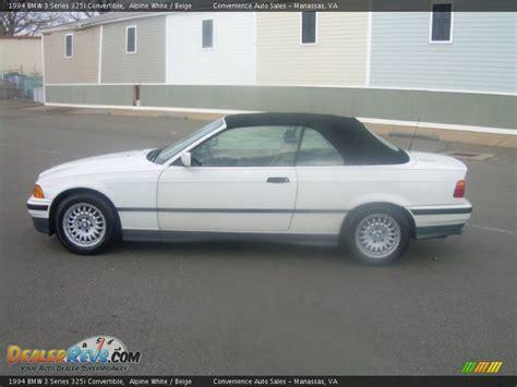 1994 Bmw 325i by 1994 Bmw 3 Series 325i Convertible Alpine White Beige