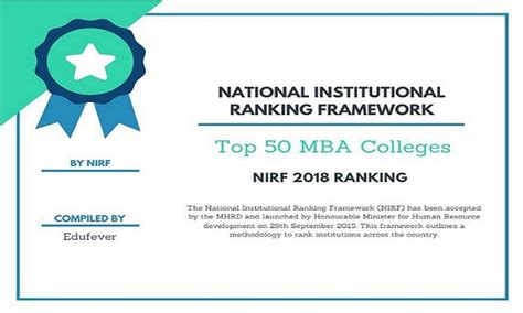 Top 50 Mba Colleges nirf 2018 ranking for top 50 mba colleges in india