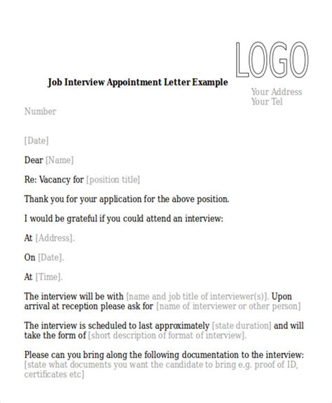 Appointment Letter For Kindergarten Position Sle Appointment Letter 8 Exles In Pdf Word