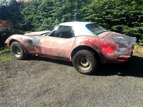 corvettes on ebay garage find 1971 corvette lt1