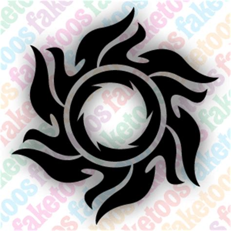sunburst tattoo tribal sunburst 2
