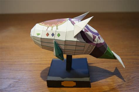 Papercraft Fish - wind fish papercraft by 6bits on deviantart