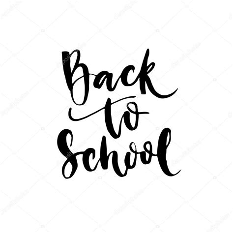 back to school lettering or back to school lettering calligraphy phrase stock